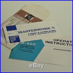 Columbia Masterwork M 652 Vintage Cassette Tape Recorder Player Case Box P/work