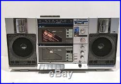 EMERSON CTR949 Vintage AM FM Stereo Radio Dual Cassette Recorder Boombox Vintage