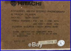 HITACHI 4 Channel Record Player 8 Track Cassette AM-FM Stereo Vintage SDP-2930