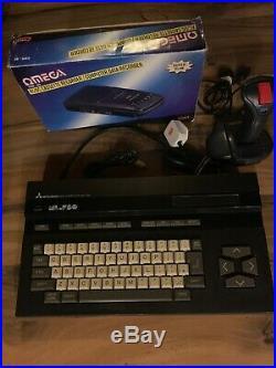 Mitsubishi MSX ML-F80 VINTAGE COMPUTER +Data Cassette Recorder Joystick & Cables