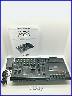 Pro Audio Fostex X-26 Multitrack Cassette Recorder Vintage (Tested & Working)