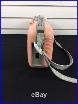 RARE Vintage Sharp QT-50(P) Pink Stereo AM/FM Cassette Recorder Radio withStrap