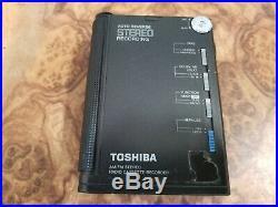 Rare Vintage TOSHIBA KT-V580 portable Cassette recording walkman working perfect