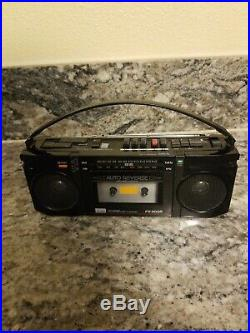 Rare. Vtg. Mini. Boombox. Black. Sansui. Fx-300r. Am/fm. Cassette. Recorder
