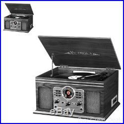 Retro Vintage Look Radio CD Cassette Mp3 Record Player
