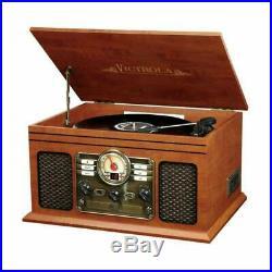 Retro Vintage Radio Cd Cassette Mp3 Record Player Turntable Vinyl Lp Bluetooth