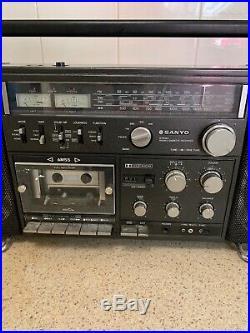 SANYO M 9998K Stereo Retro Boombox Vintage Radio Cassette Recorder