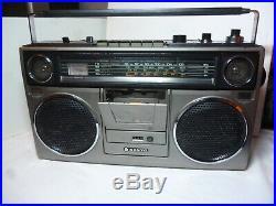 SANYO M9930K Vintage Ghetto Blaster Radio Cassette Recorder Boom Box
