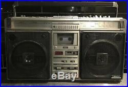 SHARP GF 9696Z Stereo Retro Boombox Vintage Radio Cassette Recorder