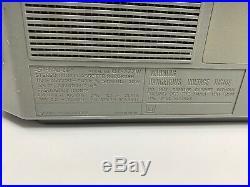 SHARP QT77 VINTAGE BOOMBOX AM/FM Stereo Dual Cassette Player/Recorder Works