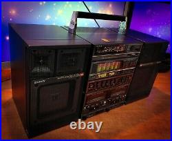 SONY FH-100W (1987) Vintage Stereo Cassette Player Recorder BOOMBOX RARE