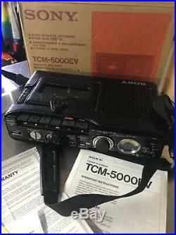 SONY TCM 5000EV PROFESSIONAL CASSETTE RECORDER NEW With BOX & INSTRUCTIONS VINTAGE