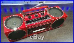 Sanyo Ghettoblaster Boombox M S 400 Radio Cassette Recorder Vintage Cube M-S 400