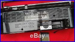 Sanyo Ghettoblaster Boombox MS Radio Cassette Recorder Vintage kein M-S400