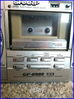 Sharp GF-8989 Stereo Radio Cassette Recorder Vintage Boombox Ghetto Blaster