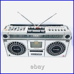 Sharp GF-9090X Boombox Stereo Radio Cassette Recorder Vintage Ghetto Blaster