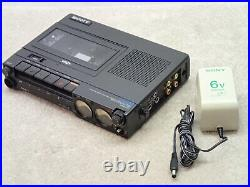 Sony TC-D5M Vintage Stereo Cassette Portable Recorder Has Damage and Issues