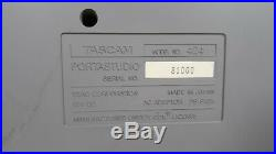TASCAM 424 Portastudio Vintage 4 Track Recorder With PS and New Cassette. TESTED