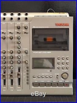 Tascam Portastudio 464 Vintage 4 Track Cassette Tape Recorder Multitrack
