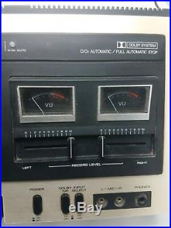 VINTAGE Curtis Mathes Dolby Stereo Cassette Tape Deck & Recorder B708 TESTED HTF