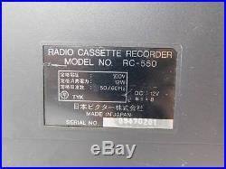 Victor/JVC RC-550 Super Rare Vintage Cassette Recorder Boombox 80s. Japan