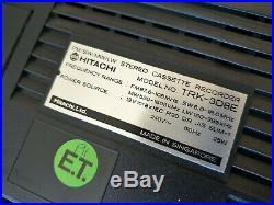 Vintage 1980s Hitachi Stereo Cassette Recorder TRK-3D8E Boombox Sub Woofer