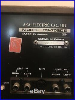 Vintage AKAI CS-702D II Cassette Recorder Player Stereo Tape Deck