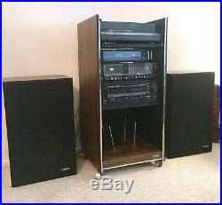 Vintage Fisher Turntable Record Player Cassette Radio Speakers Stereo System