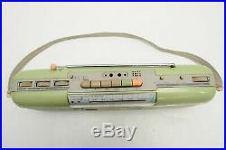 Vintage Green Sharp QT-50 Stereo Radio Cassett Recorder