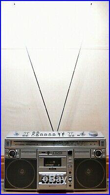 Vintage HITACHI TRK-8290E FM SW MW LW Stereo Cassette Recorder BOOMBOX BLASTER