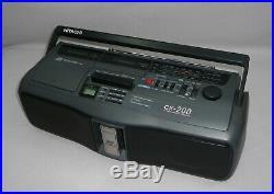 Vintage Hitachi CX-200 Boombox Ghettoblaster CD Radio Cassette Recorder 3D Bass