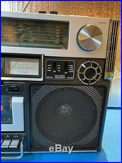 Vintage JVC Biophonic Stereo Radio Cassette Recorder RC-838W GhettoBlaster