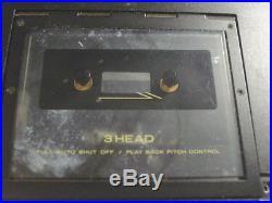 Vintage Marantz PMD222 3-Head Portable Over Shoulder Cassette Player Recorder