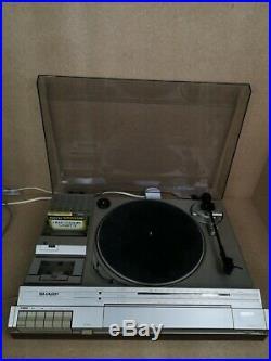 Vintage Rare Sharp SG-170EW Stereo Music Center Record Player Cassette Turntable