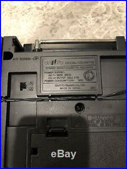 Vintage SANYO M9716 Boombox Radio Cassette Recorder Ghettoblaster 80s CLEAN