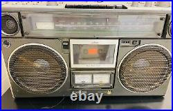 Vintage SANYO M9994 BoomBox Cassette Recorder Stereo UNTESTED