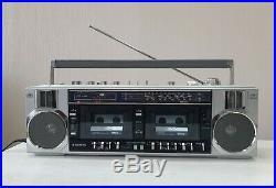 Vintage Sanyo M-W25K BOOMBOX Stereo Radio Cassette Player Recorder