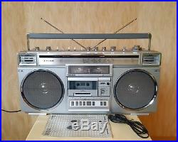 Vintage Sanyo M-X720K BOOMBOX Stereo Radio Cassette Player Recorder