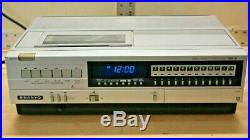 Vintage Sanyo Model VCR 4400 Betamax Video Cassette Recorder Player Works Beta