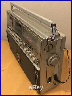 Vintage Sharp GF-515 Boombox Radio Cassette Recorder