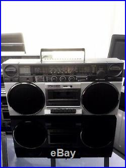 Vintage Sharp GF5858 Boombox Ghettoblaster Stereo Radio Cassette Recorder Player