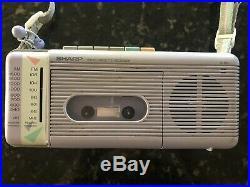 Vintage Sharp QT-5 AM/FM Radio Cassette Recorder 1spkr version stranger Things