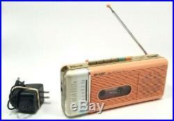Vintage Sharp QT-5 Pink AM/FM Radio Cassette Recorder From Stranger Things