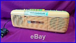 Vintage Sharp QT-50(P) Pink Stereo AM/FM Radio Cassette Player Recorder