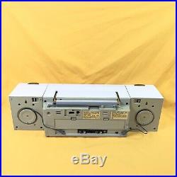Vintage Sharp QT-89 Stereo Cassette Recorder Player BOOMBOX GHETTO BLASTER
