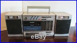 Vintage Sony CFS-3000 Transound AM FM Stereo Radio Cassette Recorder Boombox NOB