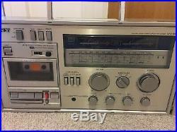 Vintage Sony CFS 88L Ghettoblaster Boombox Stereo Cassette Recorder 1980s