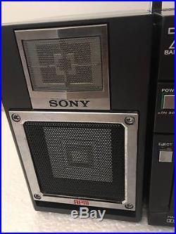 Vintage Sony Cfs 9000 Radio Cassette Recorder Ghettoblaster Boombox Line In 46w Vintage Cassette Recorder