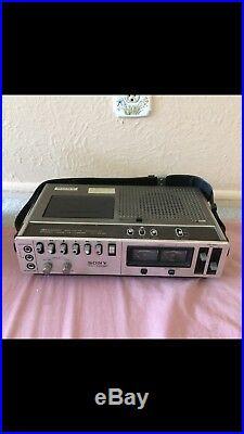 Vintage Sony Cassette-Corder TC-152SD Vintage Cassette Recorder Circa 1970s