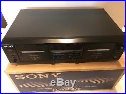 Vintage Sony TC-WE475 Dual Stereo Cassette Double Deck Tape Player Recorder NEW